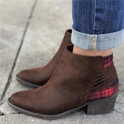 Women Casual Daily Back Lace Up Ankle Boots