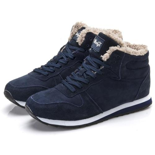 Women Flats Casual Winter Shoes Woman Plus Size 47 Lovers Zapatillas Mujer Suede Leather Winter Sneakers Basket Femme Footwear