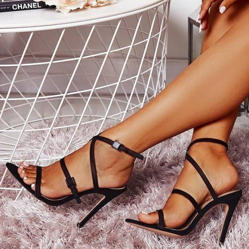 Buckle Crisscross Hollow Out Sandals