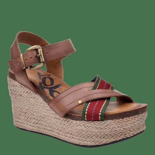 TOPSAIL in BROWN SUGAR Wedge Sandals