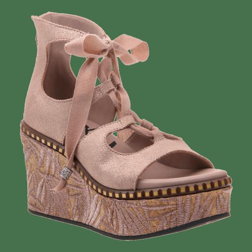KENTUCKY in COPPER Wedge Sandals