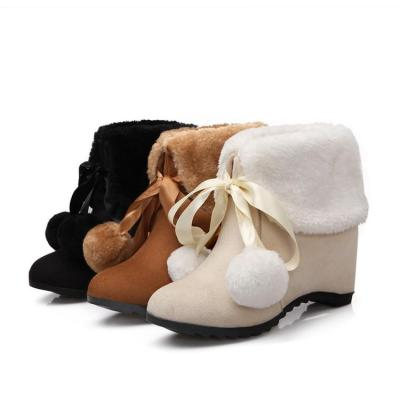 Women's Short Boots Increase Leisure Wedge Snow Boots