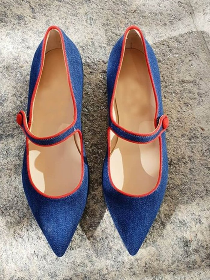 Women's Fashion Simple Pointed Flat Shoes