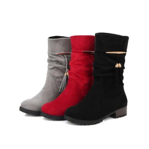 Tassel Short Boots Plus Size Women Shoes 5664
