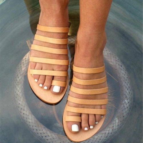 Gladiator Sandals Women Shoes Slippers Ladies Flat Sandals Roman Flip Flops  Summer Shoes  Fo Women Sandalia Feminina