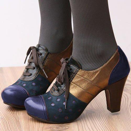 Women's elegant retro ankle boots