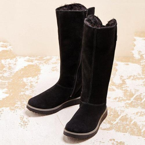 Women Winter Casual Slip-On Suede Boots