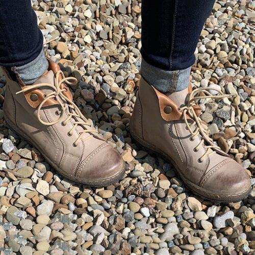 Women Casual Comfy Lace Up Boots