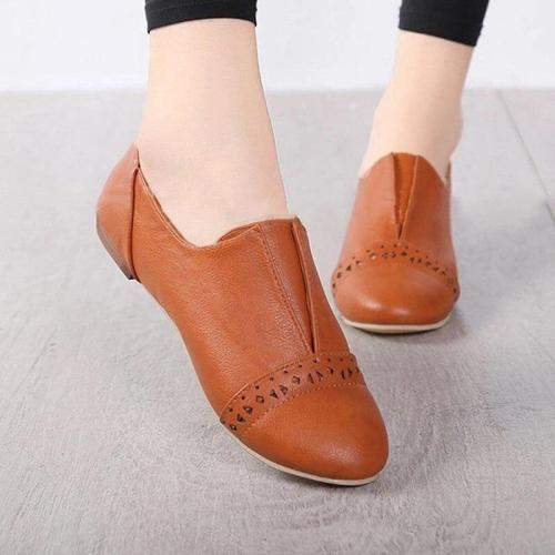 Women's Spring Slip On Flat Shoes Ladies PU Leather Shallow Breathable Flat Platform Female Fanshion Casual Woman Shoes