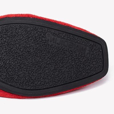 Women's Square Toe Color Split Comfortable Soft Flats