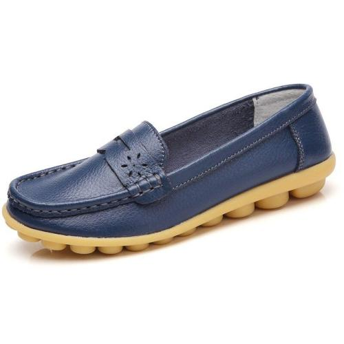 New arrival Shoes Woman Leather Women Shoes Flats Colors footwear Loafers Slip On Women's Flat Shoes Moccasins