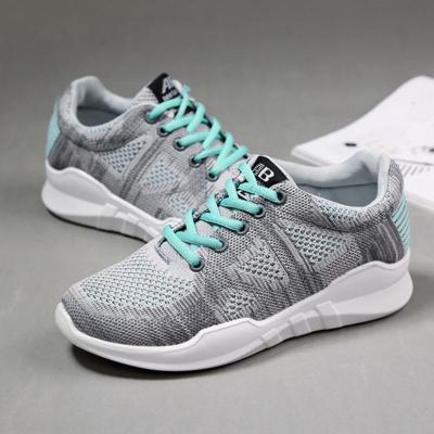 Womens Athletic Summer Mesh Fabric Lace-Up Sneakers