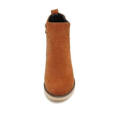 Women's Ankle Boots Fall and Winter Leisure Round Head Chelsea Boots Shoes