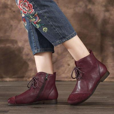 Daily Pu Low Heel Ankle Boots