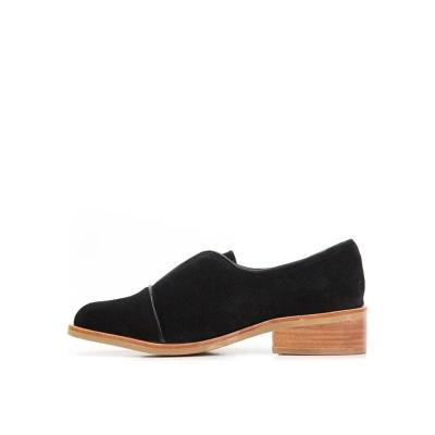 Elegant contracted round-toed low-heel single shoes