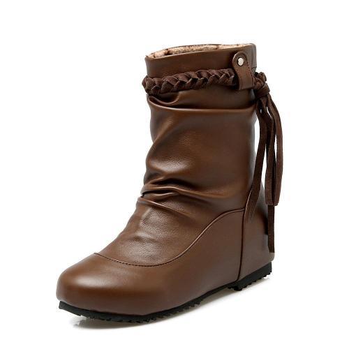 Women Tassel Short Boots Plus Size Autumn and Winter Shoes 9965