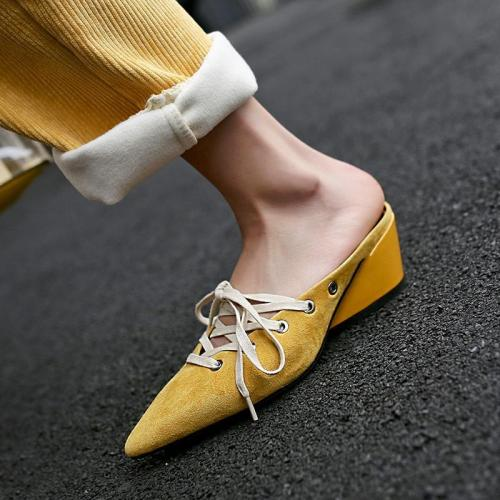 Fashion Sexy Straps With Thick Slippers