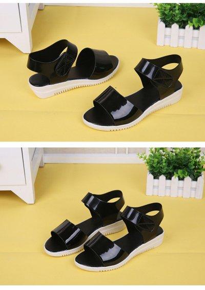 Soft Leather Women Sandals 2019 Summer Women Shoes Sweet Ladies Flat Platform Shoes Young Ladies Sandals Soft Hot Sale A763