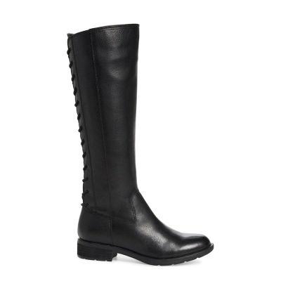 Womens Zipper Chunky Heel Artificial Suede Knee Boots