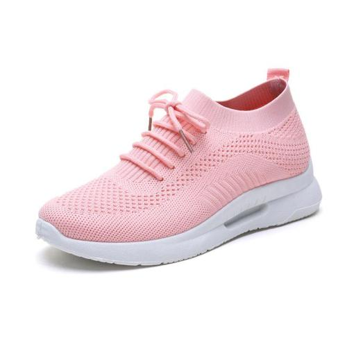 Autumn solid lace-up sneakers women shoes 2020 fashion women sneakers breathable mesh casual shoes woman zapatos de mujer