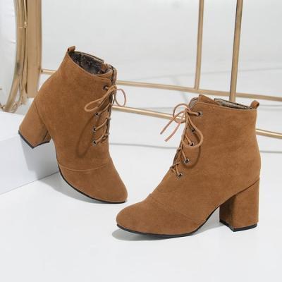 Women's Ankle Boots Autumn and Winter Zipper High Heels Short Boots Shoes