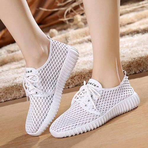 Women Mesh Fabric Sneakers Casual Comfort Slip On Breathable Shoes