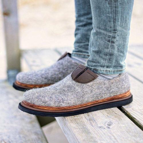 Women Winter Slip-On Casual Woolen Loafers