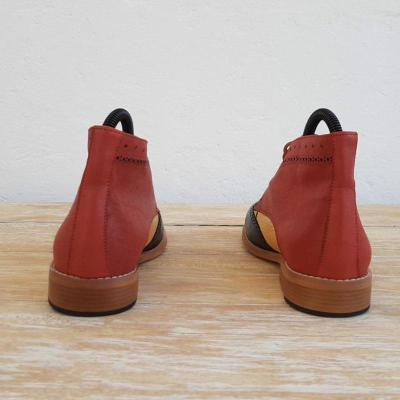 Color Joint Lace Up All Season Ankle Boots