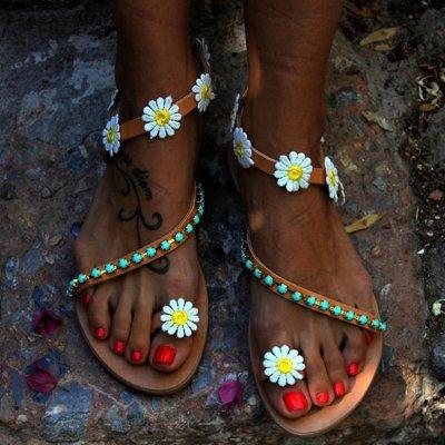 Casual Flora Plus Size Boho Sandals