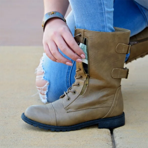 Women Casual Lace-Up Daily Low Heel Fall Boots