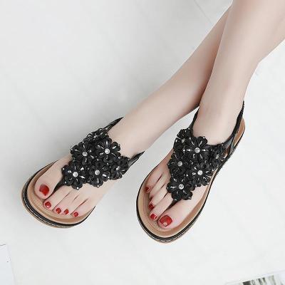 Women shoes  2019 new fashion rhinestone women sandals clip toe flip flops sandals women soft comfortable flats shoes woman