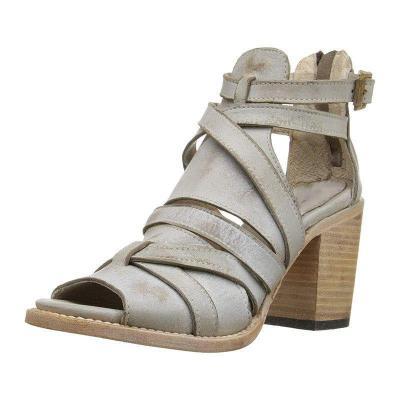 Vintage Buckle Strap Heel Sandals Chunky Heel Sandals