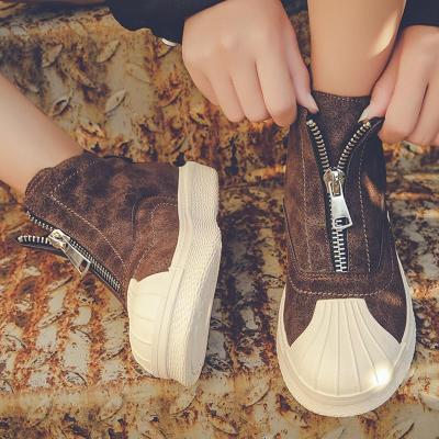 Women's All Season Casual Front Zipper Boots