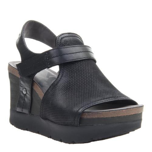 WAYPOINT in BLACK Wedge Sandals