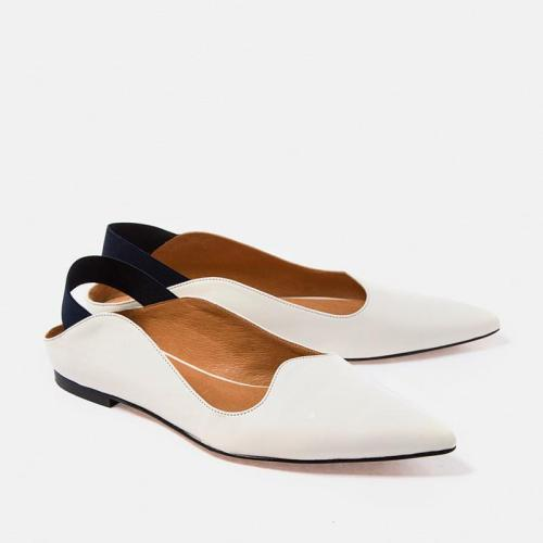 Summer 2021 Women's Pointed-Toe Flat Heel Single Shoes Sandals