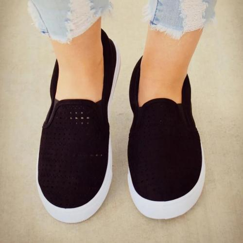 Spring Women Flats Shoes Platform Sneakers Shoes Woman Leather  Shoes Slip On Flats