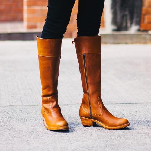 Women Zipper Tall Boots