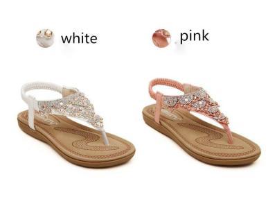 Sandals women 2019 new fashion bohemia shoes woman clip toe flat beach sandals female outdoor wom0en shoes zapatos de mujer