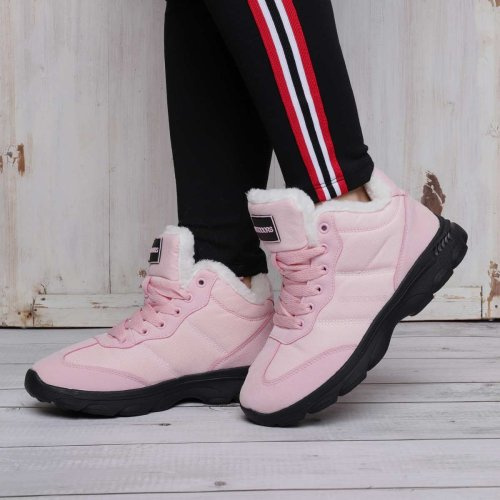 Women Winter Casual Warm Lining Lace Up Athletic Snow Sneakers Boots