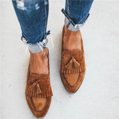 Ladies Fashion Tassel Flat Mules