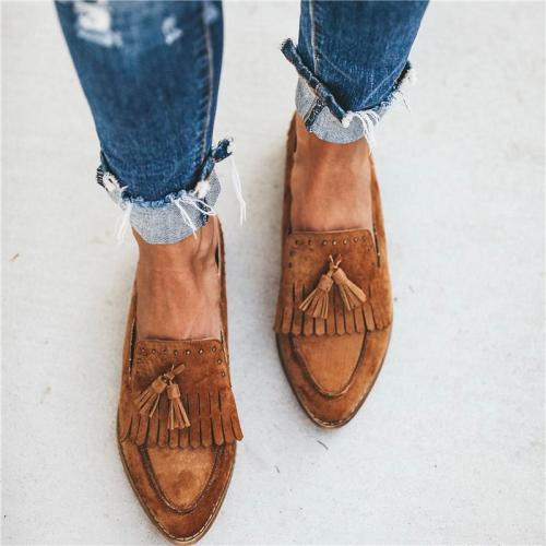 Ladies Fashion Tassel Flat Mules