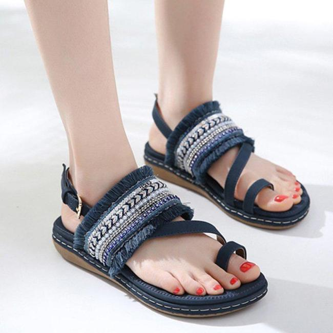 Women Spring Band Artificial Fashion Daily Sandals