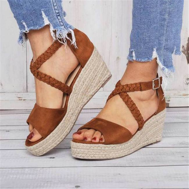 Fashion Woven With Wedge Sandals