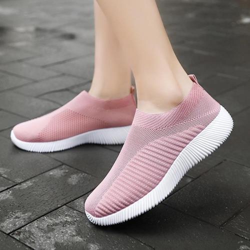 cuteshoeswearWomen Vulcanized Shoes High Quality Women Sneakers Slip On Flats Shoes Women Loafers Plus Size 42 Walking Flat