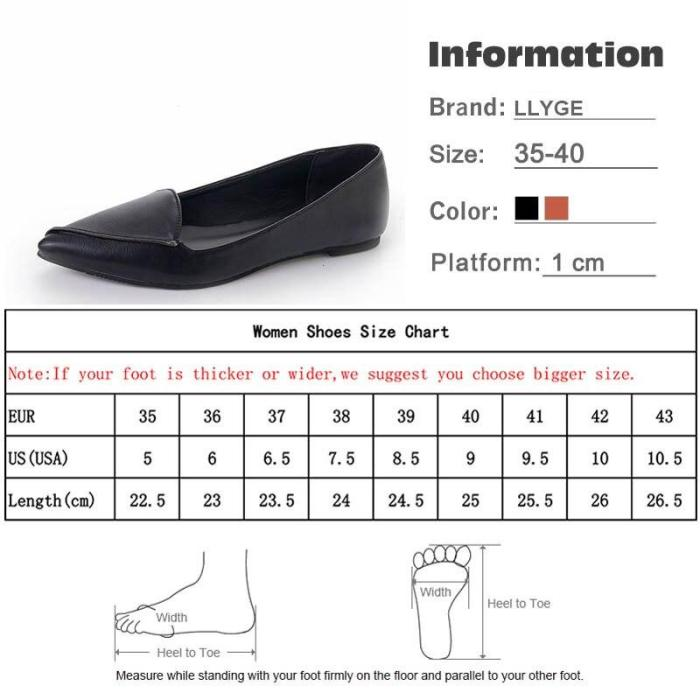 2019 Spring Women Pointed Toe Flats Fashion Ballet Shallow Loafers Female High Quality PU Flats Slip On Casual Boats Shoes
