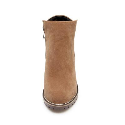 Women's Ankle Boots Fall/winter Retro Thick Heel Size 33-43 Low Heeled Short Boots Shoes