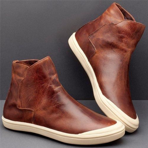 Women Casual Comfy High Top Slip On Flat Sneakers