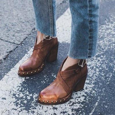 Chic Chunky Heel Boots