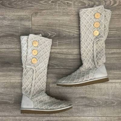 Flat Heel Cotton Daily Boots