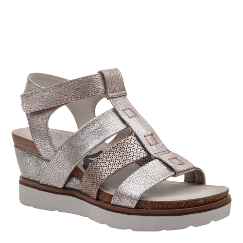 NEW MOON in SILVER Wedge Sandals